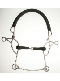 Abbey Combination Hackamore - Rubber Jointed