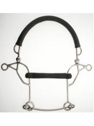Abbey Combination Hackamore - Rubber Mullen